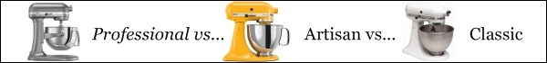 Compare KitchenAid Mixers